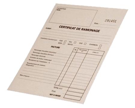 Nous vous délivrons un certificat de ramonage