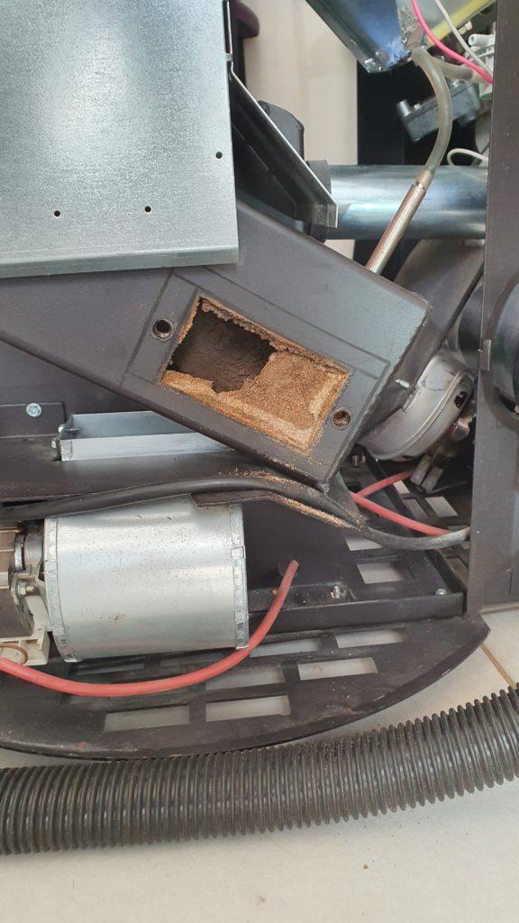 exemple nettoyage extracteurs poêle à granulés